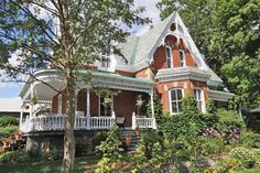 Tucked away on a quiet cul-de-sack on the West side of Merrickville is this magnificent, unspoiled circa 1891 Victorian brick home with wonderful porches highlighted with gingerbread trim. The park-like grounds are filled with many trees and rare varieties of perennials. This property has been on two Merrickville house tours as well as winning an award for Garden Tours and Communities in Bloom. Great potential for a future B & B!