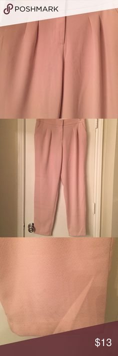 Gorgeous high waisted Pink Office Pants Gorgeous . Never worn somehow managed to get a stain on it while moving into my new apartment. This should be removable with a wash. Price reflects this .Offers welcome Forever 21 Pants Trousers