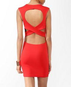 Crisscross Back Bodycon Dress | FOREVER21 - 2000046464