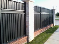 Privacy Slats In Ornamental Iron Fence In 2019 Backyard Fences Iron Fence Gate