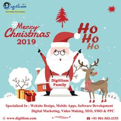 May the joy and peace of Christmas be with you all through the Year. Wish You Merry Christmas, Christmas 2019, Xmas, Happy New Year 2020, Graphic Design Services, Digital Marketing Services, Software Development, Mobile App, Joy