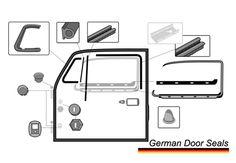 Parts to replace. Door Seals