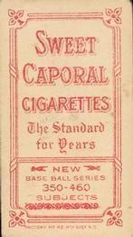 1909-11 The American Tobacco Company T206 White Border #162 Kid Elberfeld Back