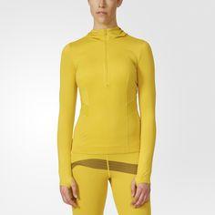 Das adidas by Stella McCartney Essentials adizero Hooded Longsleeve aus ultraleichtem Material ist die perfekte Ergänzung für dein Running-Outfit. Stylishe Mesh-Akzente sorgen für zusätzliche Belüftung.
