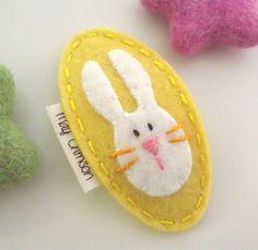NO SLIP fieltro pelo clip - Rosie el conejo-amarillo