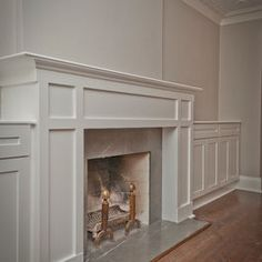 How to build a custom white shaker style cabinets and fireplace