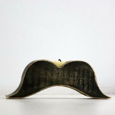 Moustache - mustache candle holder trendy article made out of lime tree hand painted black and distressed sold by DesignAtelierArticle. Shop more products from DesignAtelierArticle on Storenvy, the home of independent small businesses all over the world. Interior Desing, Custom Candles, Moustache, Making Out, Candle Holders, Lime, Shabby, Hand Painted, Black And White
