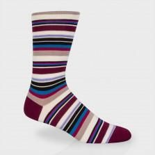 Paul Smith Socks - Damson Harbour Stripe Socks
