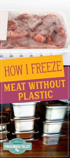 On of the challenges going plastic free is freezing meat without plastic, How to freeze meat without plastic is a real challenge, but I found a solution! #wastefreeliving