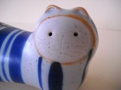 Vintage Stoneware Coin Bank Ceramic Cat Bank Japan by Modernaire on Etsy