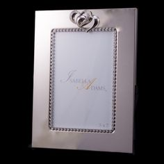 a79734044 3.5 x 5 Double Hearts Picture Frame Featuring Swarovski © Crystals – Isabella  Adams Designs