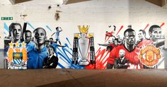 graffiti art for bbc manchester united city motd football focus