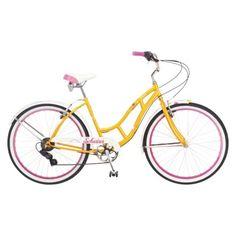 Womens Magna 26 In Rip Curl Cruiser Bike Yellow