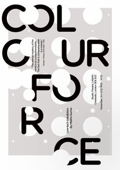 Colour Force #poster #design #inspiration