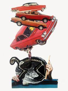 "Saatchi Art Artist Ruth Jean Silver; Collage, ""Feats of Strength"" #art"