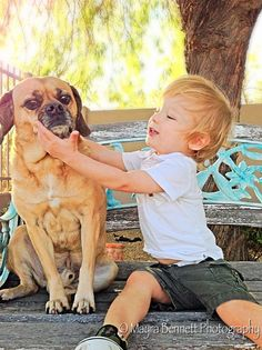 Baby with puggle