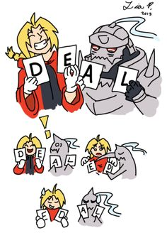 """Elric Bros Hehe watch the comic con cosplay video on YouTube and you'll see the """"de"""" thing hahaha go Fullmetal ;)"""