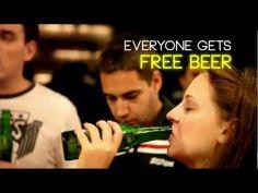 タイムシートが記入されると全員でビールが飲める。どの国でもタイムシートの記入は面倒らしい・・・ If you do your timesheet we will give you free beer (and soda too)