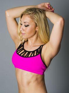 Pink Laced Sports Bra
