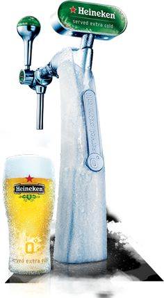 this is how Heineken is meant to be served... had this in Sas van Gent Holland from a little bar out of a dispenser just like this one in a glass just like this.. Super Cold, Super Bold, Super delicious!!!!! When in Holland, go for this!