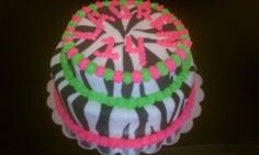 Fondant Zebra Themed Cake