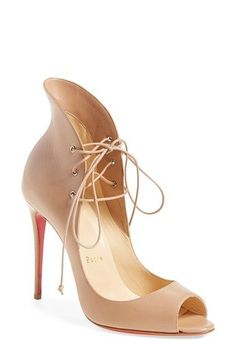 84106a95afcf Christian Louboutin  Megavamp  Flared Peep Toe Pump available at  Nordstrom  Louboutin High Heels