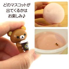 Rilakkuma chocolate bath bomb salt with surprise toy haha nice :D id like o try that bomb :D and the surprise toy is cute <3 @modes4u
