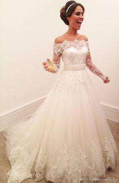 55+ Wedding Dress Off the Shoulder Lace - Best Dresses for Wedding Check more at http://svesty.com/wedding-dress-off-the-shoulder-lace/