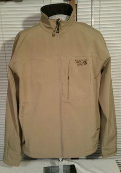 Mountain Hardwear soft shell zip Jacket Men XL Running/cycling/camping/hike/ski #MountainHardwear #BasicJacket