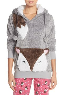 Free shipping and returns on COZY ZOE Hooded Sweatshirt at Nordstrom.com. An animal face adds a playful vibe to a cozy sweatshirt finished with pompom tassels on the drawstrings.