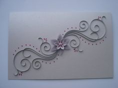 Paper Quilling Wedding Card -Personalized Handmade Greeting Card; Blank