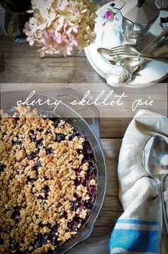 At The Market:: Cherry Skillet Crumble // Heart of Gold
