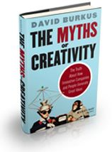 """Myths of Creativity - David Burkus. """"Creativity is the starting point for innovation. Innovation is creativity applied and scaled."""" """"Most companies don't suffer from an idea generation issue; they suffer from an idea recognition issue."""