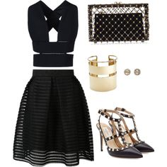 Date Night by mobbing on Polyvore featuring polyvore, fashion, style, STELLA McCARTNEY, Valentino, Charlotte Olympia, By Malene Birger and EF Collection