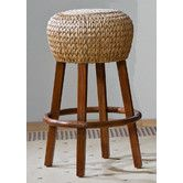 """Found it at Wayfair - Seagrass Indoor Rattan 30"""" Stationary Bar Stool in Honey Finish"""
