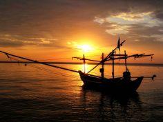 Sunset Fishing Boat, Ko Phangan, Thailand
