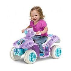 Disney Frozen Toddler 4 Wheeler Quad Ride On Toy Girls Princess Elsa Anna Purple