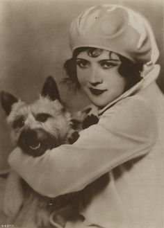 Marie Prevost #beret #terrier #dog