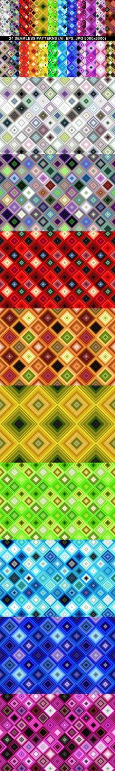 24 Seamless Patterns #PremiumBackgrounds #AbstractGraphics #GeometricalPattern #BackgroundCollection #GeometricDesign #BackgroundGraphic #PremiumVectorGraphicDesign #BackgroundDesign #PremiumVector #GeometricBackgrounds #backdrop #geometry #CheapVectorPatterns #PremiumVectorPatternDesign #PatternSale #abstract #vector #CheapBackground #boho Geometric Patterns, Graphic Patterns, Graphic Design, Vector Background, Background Patterns, Vector Pattern, Pattern Design, Abstract Backgrounds, Colorful Backgrounds