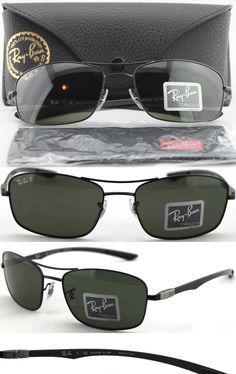 a24fdfeb38710 Sunglasses 155189  New Ray Ban Rb 8309 Rb8309 Black Carbon Fiber 002 9A  Polarized Sunglasses