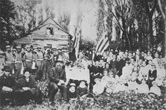 Early Scandinavians pioneers that settled in the  Minnesota Territory of Minnesota, Wisconsin, and the Dakotas. The image here is of Norwegian settlers celebrating Constitution Day in present day New Richmond, Wisconsin ca 1890. The story of the 19th Century Norwegian Emigration to the U.S.
