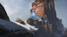 ArtStation - Mountain Fortress, Lucas Helmintoller