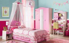 CHAMBRE PRINCESSE 1 – lit fille – armoire – chevet fille – bureau – Cilek