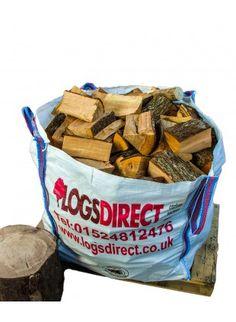 Seasoned UK softwood firewood logs