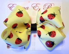 Lady bug bow