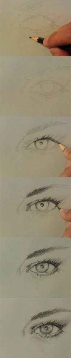 Learn how to draw eye front view (female, woman) step by Step how to video tutorial lesson. Drawing and sketching an eye front view. Drawing Lessons, Drawing Techniques, Drawing Sketches, Art Drawings, Sketching, Pencil Drawings, Cartoon Drawings, Realistic Drawings, Realistic Eye