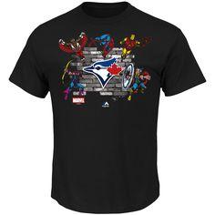 MLB Toronto Blue Jays Majestic Marvel Fans Assemble T-Shirt - Black