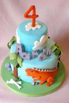 Dinosaur Cake |Pinned from PinTo for iPad|