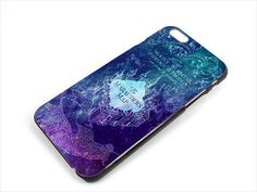 "Harry Potter Marauders Map Blue Case for iPhone 6 4.7"" Plus 5.5 5/5S 5C 4/4S"