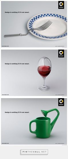 Publicité - Creative advertising campaign - Smart: Design is nothing if its not smart